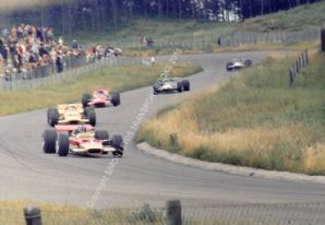 LOTUS 49 Hill leads Hulme Amon etc 1969 Dutch GP Zandvoort